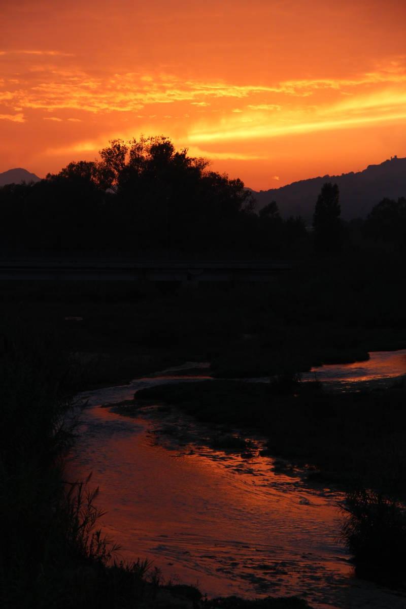 altidona foce fiume tramonto